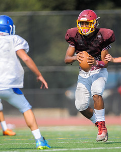 Menlo Atherton JV  Football Scrimmage against Junípero Serra High School, 2016-08-19