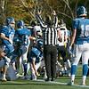 Lunenburg High School played Littelton High School on Saturday afternoon at Lunenburg Middle High School. A Ref signals a touchdown for Littleton. SENTINEL & ENTERPRISE/JOHN LOVE