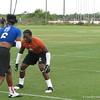 Duke Dawson lines up against Tajee Fullwood.