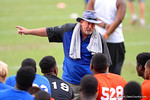 Florida Gator defensive line coach Brad Lawing coaches up the kids.2014 Friday Night Lights.  July 25th, 2014. Gator Country photo by David Bowie.