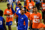 Florida Gator coach Chris Leak leads his group to the next drill. 2014 Friday Night Lights.  July 25th, 2014. Gator Country photo by David Bowie.