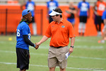 Florida Gator head coach Will Muschamp walks the field and talks with the recruits. 2014 Friday Night Lights.  July 25th, 2014. Gator Country photo by David Bowie.