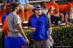 Florida Gator defensive line coach Brad Lawing watches on during Friday Night Lights. 2014 Friday Night Lights.  July 25th, 2014. Gator Country photo by David Bowie.
