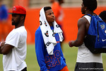 Florida Gator cornerback Vernon Hargreaves watches the recruits run the drills.2014 Friday Night Lights.  July 25th, 2014. Gator Country photo by David Bowie.