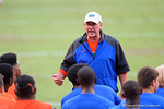 Florida Gator offensive line coach Mike Summers coaches up the kids.2014 Friday Night Lights.  July 25th, 2014. Gator Country photo by David Bowie.