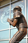 The Danny Wuerffel statue outside Ben Hill Griffin Stadium.2014 Friday Night Lights.  July 25th, 2014. Gator Country photo by David Bowie.