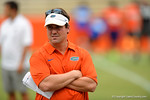 Florida Gator head coach Will Muschamp looks on as the recruits run the drills.2014 Friday Night Lights.  July 25th, 2014. Gator Country photo by David Bowie.
