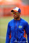 Florida Gator coach Chris Leak looks on as the recruits run the drills.2014 Friday Night Lights.  July 25th, 2014. Gator Country photo by David Bowie.