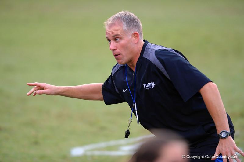Defensive coordinator D.J. Durkin