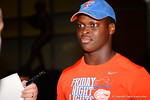 Recruits give interviews as they exit The Swamp after Friday Night Lights. 2014 Friday Night Lights.  July 25th, 2014. Gator Country photo by David Bowie.