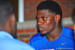 2015 Florida Gator recruit Jeffrey Holland gives an interview after Friday Night Lights. 2014 Friday Night Lights.  July 25th, 2014. Gator Country photo by David Bowie.