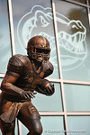 The Tim Tebow statue outside Ben Hill Griffin Stadium.2014 Friday Night Lights.  July 25th, 2014. Gator Country photo by David Bowie.