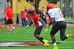 CB Jermaine Roberts drops back into coverage on a streaking Chris Godwin.  Under Armour All America Football Bowl Practice Day 1.  Orlando,FL.  December 29, 2013.  Gator Country photo by David Bowie.