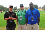Gator Country's own from left to right, Nick De La Torre, Andrew Spivey and Richard Johnson are sideline all week following the practices.  Under Armour All America Football Bowl Practice Day 1.  Orlando,FL.  December 29, 2013.  Gator Country photo by David Bowie.