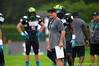 2015 high school football recruits practice and run drills during the second day of practice for the 2015 Under Armour All-America High School Football Game.  2015 Under Armour All-America High School Football Game Practice Day 2.  December 30th, 2014. Gator Country photo by David Bowie.