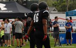 Defensive Linemen Shavar Manuel at Under Armour All-American Practice Day One. GatorCountry photo by Kassidy Hill