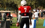 Quarterback Dwayne Haskins at Under Armour All-American Practice Day One. GatorCountry photo by Kassidy Hill