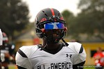 Wide receiver Sam Bruce at Under Armour All-American Practice Day One. GatorCountry photo by Kassidy Hill