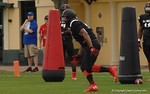Defensive lineman Shavar Manual runs drills at Under Armour All-American Practice Day One. GatorCountry photo by Kassidy Hill