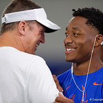 University of Florida Gators offensive coordinator and receiver Jacob Copeland at Friday Night Lights camp at Ben Hill Griffin Stadium and Indoor Practice Facility.  July 21st, 2017.  Gator Country Photo by David Bowie.