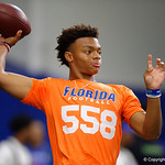 5-Star recruit Justin Fields as University of Florida Gators recruits, commits and high school players from across the nation compete as the Gators host their annual Friday Night Lights camp at Ben Hill Griffin Stadium and Indoor Practice Facility.  July 21st, 2017.  Gator Country Photo by David Bowie.