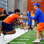 University of Florida Gators commit Dante Lang at Friday Night Lights camp at Ben Hill Griffin Stadium and Indoor Practice Facility.  July 21st, 2017.  Gator Country Photo by David Bowie.