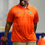 Florida Gators Assistant Coach,linebackers, Tim Skipper as University of Florida Gators recruits, commits and high school players from across the nation compete as the Gators host their annual Friday Night Lights camp at Ben Hill Griffin Stadium and Indoor Practice Facility.  July 21st, 2017.  Gator Country Photo by David Bowie.