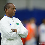 Florida Gators defensive coordinator Randy Shannon as University of Florida Gators recruits, commits and high school players from across the nation compete as the Gators host their annual Friday Night Lights camp at Ben Hill Griffin Stadium and Indoor Practice Facility.  July 21st, 2017.  Gator Country Photo by David Bowie.