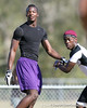 Wide receiver Bryan Holmes (Lake Butler/Union County) works out during a 7-on-7 football practice on Saturday, March 6, 2010 at Wrigley Fields Park in Citra, Fla. / Gator Country photo by Tim Casey