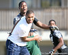 Linebacker Jordan Montgomery (Groveland/South Lake) works out during a 7-on-7 football practice on Saturday, March 6, 2010 at Wrigley Fields Park in Citra, Fla. / Gator Country photo by Tim Casey
