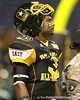 Princeton, Ohio (Princeton HS) running back Spencer Ware watchs pregame activities before the U.S. Army All-American Bowl on Saturday, January 9, 2010 at the Alamodome in San Antonio, Texas. / Gator Country photo by Tim Casey