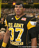 Aurora, Colo. (Grandview HS) defensive end Chris Martin watches a video replay during the first half of the U.S. Army All-American Bowl on Saturday, January 9, 2010 at the Alamodome in San Antonio, Texas. / Gator Country photo by Tim Casey