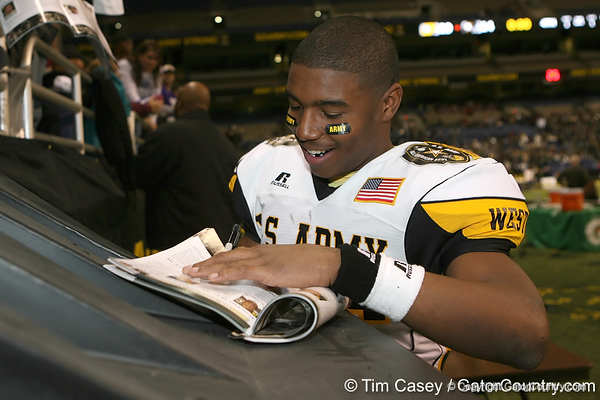 after the U.S. Army All-American Bowl on Saturday, January 9, 2010 at the Alamodome in San Antonio, Texas. / Gator Country photo by Tim Casey