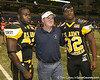 West Palm Beach, Fla. (Dwyer HS) defensive back Matt Elam poses for a photo with Gerald Christian after the U.S. Army All-American Bowl on Saturday, January 9, 2010 at the Alamodome in San Antonio, Texas. / Gator Country photo by Tim Casey