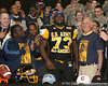 Philadelphia (Washington HS) defensive tackle Sharrif Floyd announces his verbal commitment to play at the University of Florida during halftime of the U.S. Army All-American Bowl on Saturday, January 9, 2010 at the Alamodome in San Antonio. / Gator Country photo by Tim Casey