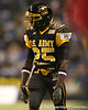 Lakewood, Ohio (Glenville Academic Campus) defensive back Latwan Anderson lines up during the second half of the U.S. Army All-American Bowl on Saturday, January 9, 2010 at the Alamodome in San Antonio, Texas. / Gator Country photo by Tim Casey