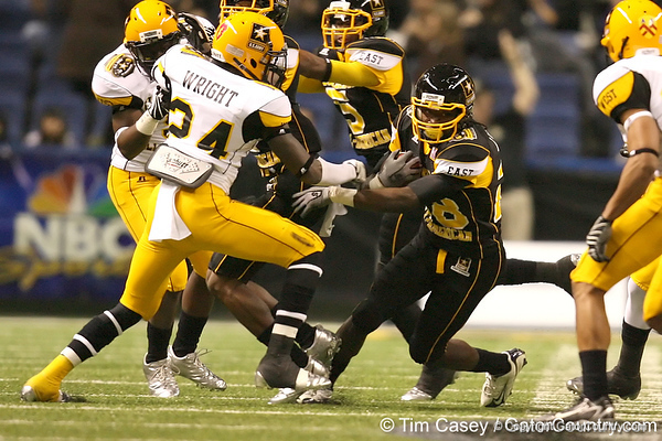 Duncan, S.C. (Byrnes HS) running back Marcus Lattimore carries the ball  during the first half of the U.S. Army All-American Bowl on Saturday, January 9, 2010 at the Alamodome in San Antonio, Texas. / Gator Country photo by Tim Casey