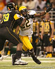 Portland, Ore. (Douglas HS) defensive end Owa Odighizuwa pressures the quarterback during the second half of the U.S. Army All-American Bowl on Saturday, January 9, 2010 at the Alamodome in San Antonio, Texas. / Gator Country photo by Tim Casey