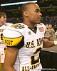 Gardena, Calif. (Junipero Serra HS) wide receiver Robert Woods celebrates after the U.S. Army All-American Bowl on Saturday, January 9, 2010 at the Alamodome in San Antonio, Texas. / Gator Country photo by Tim Casey