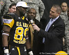Duncan, S.C. (Byrnes HS) defensive tackle Brandon Willis announces his verbal commitment to play for the University of Tennessee during the U.S. Army All-American Bowl on Saturday, January 9, 2010 at the Alamodome in San Antonio, Texas. / Gator Country photo by Tim Casey