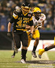Zionsville, Ind. (Zionsville HS) linebacker Blake Lueders runs downfield during the first half of the U.S. Army All-American Bowl on Saturday, January 9, 2010 at the Alamodome in San Antonio, Texas. / Gator Country photo by Tim Casey
