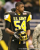 Hollandale, Miss. (Simmons School) defensive end Carlos Thompson watches pregame activities before the U.S. Army All-American Bowl on Saturday, January 9, 2010 at the Alamodome in San Antonio, Texas. / Gator Country photo by Tim Casey