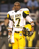 Galena Park, Texas (North Shore HS) wide receiver DeAndrew White  watches pregame activities before the U.S. Army All-American Bowl on Saturday, January 9, 2010 at the Alamodome in San Antonio, Texas. / Gator Country photo by Tim Casey