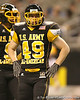 Canonsburg, Penn. (Canon McMillan HS) linebacker Mike Hull lines up during the first half of the U.S. Army All-American Bowl on Saturday, January 9, 2010 at the Alamodome in San Antonio, Texas. / Gator Country photo by Tim Casey