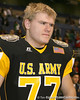Cincinnati (St. Xavier HS) offensive lineman Matt James talks to a reporter after the U.S. Army All-American Bowl on Saturday, January 9, 2010 at the Alamodome in San Antonio, Texas. / Gator Country photo by Tim Casey