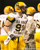 Westlake Village, Calif. (Oaks Christian HS) defensive tackle Cassius Marsh lines up before the U.S. Army All-American Bowl on Saturday, January 9, 2010 at the Alamodome in San Antonio, Texas. / Gator Country photo by Tim Casey