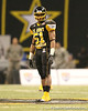 Stamford, Conn. (Stamford HS) linebacker Khairi Fortt lines up during the first half of the U.S. Army All-American Bowl on Saturday, January 9, 2010 at the Alamodome in San Antonio, Texas. / Gator Country photo by Tim Casey