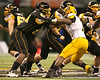 Olive Branch, Miss. (Olive Branch HS) offensive lineman Damien Robinson blocks during the second half of the U.S. Army All-American Bowl on Saturday, January 9, 2010 at the Alamodome in San Antonio, Texas. / Gator Country photo by Tim Casey