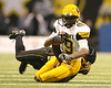 Shawnee, Kan. (Bishop Miege HS) linebacker Justin McCay gets tackled during the first half of the U.S. Army All-American Bowl on Saturday, January 9, 2010 at the Alamodome in San Antonio, Texas. / Gator Country photo by Tim Casey