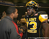 Philadelphia (Washington HS) defensive tackle Sharrif Floyd talks with a friend during the first half of the U.S. Army All-American Bowl on Saturday, January 9, 2010 at the Alamodome in San Antonio, Texas. / Gator Country photo by Tim Casey